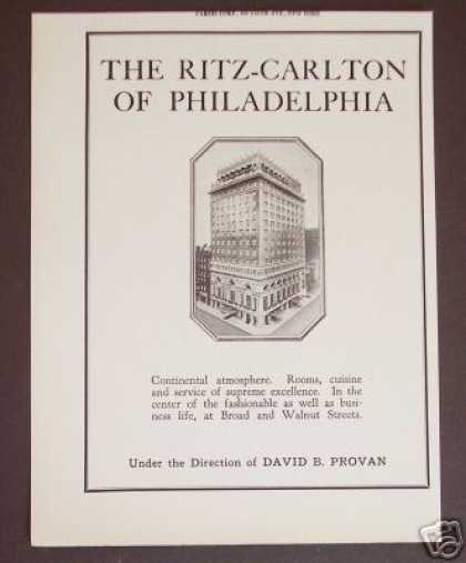 The Ritz-carlton Hotel Philadelphia (1927)