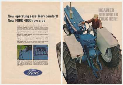 Ford 4000 Row Crop Tractor 2-Page (1966)