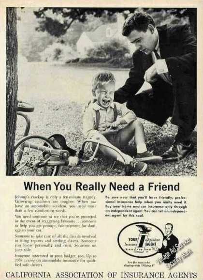 When U Really Need a Friend Ca Insurance Agents (1961)