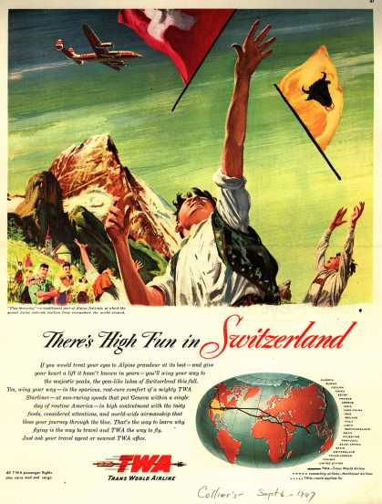 Trans World Airline's Switzerland – There's High Fun in Switzerland (1947)