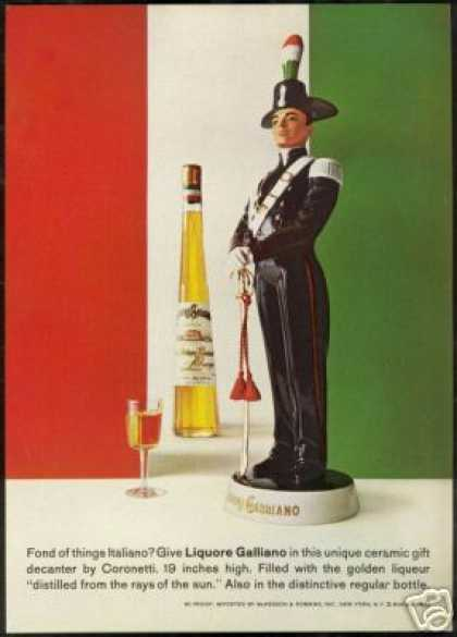 Galliano Liqueur Coronetti Decanter Bottle (1968)