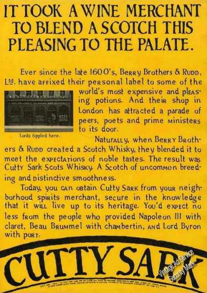 History of Cutty Sark Scotch Unique (1977)
