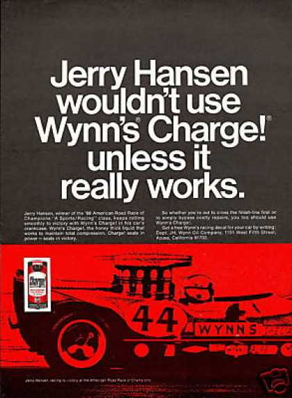 Jerry Hansen Race Car Wynns Charge (1969)