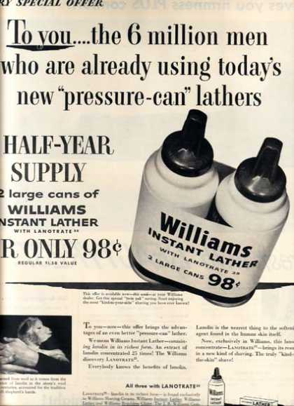 "William's ""new 'pressure-can' lathers"" (1954)"