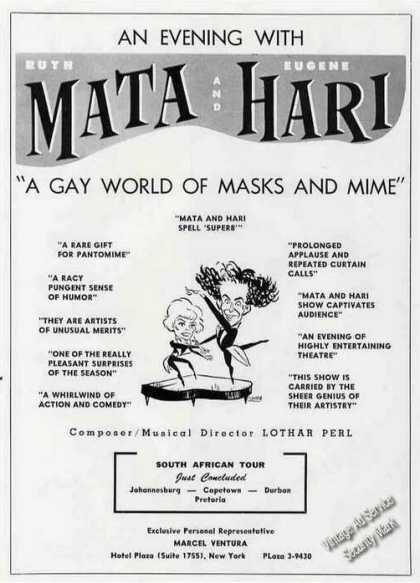Ruth Mata & Eugene Hari Masks and Mime Trade (1961)