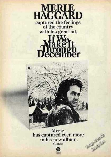 "Merle Haggard ""If We Make It Through December"" (1974)"
