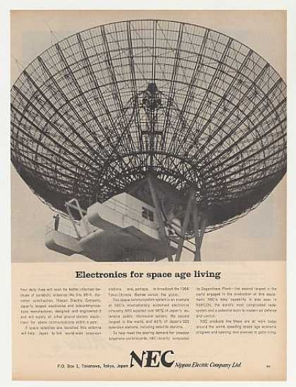 NEC Parabolic Satellite Communication Antenna (1963)