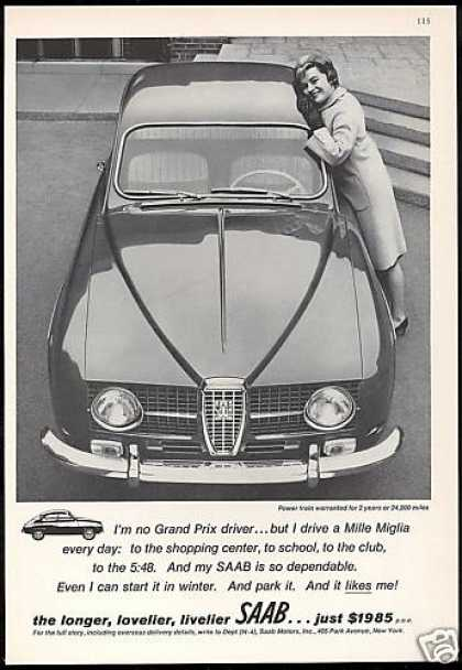 Saab Mille Miglia Car Photo Vintage (1965)