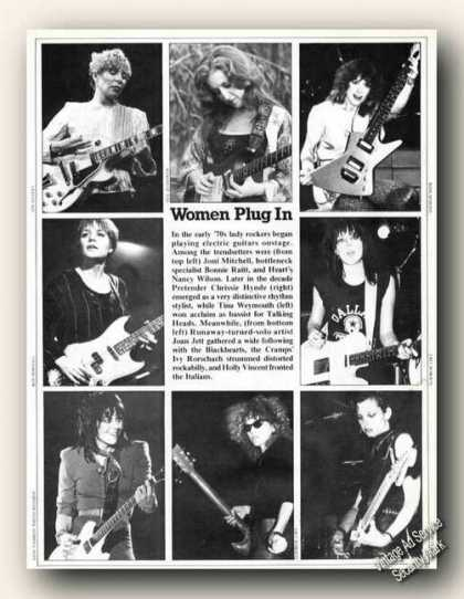 Print Photos 70s Lady Rockers Feature (1983)