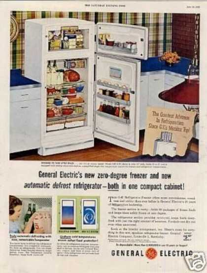 General Electric Refrigerator Ad Model Lh-11k (1953)