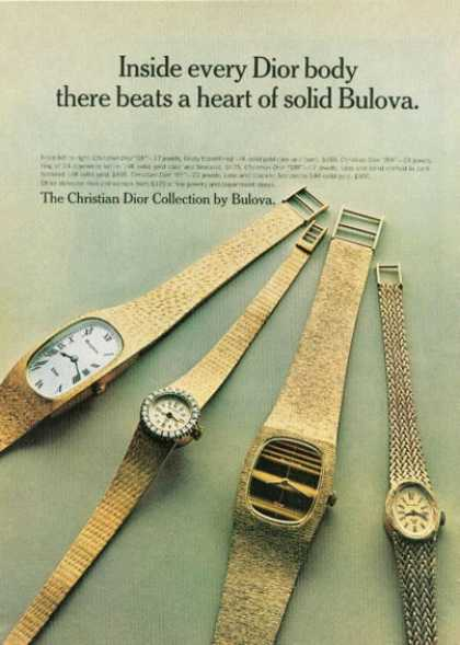 Bulova Christian Dior Solid Gold Watch (1972)