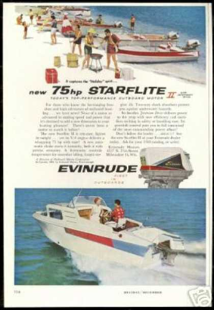 Evinrude Outboard Boat Motor Starflite (1959)
