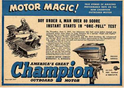 Champion's Outboard Motors (1947)