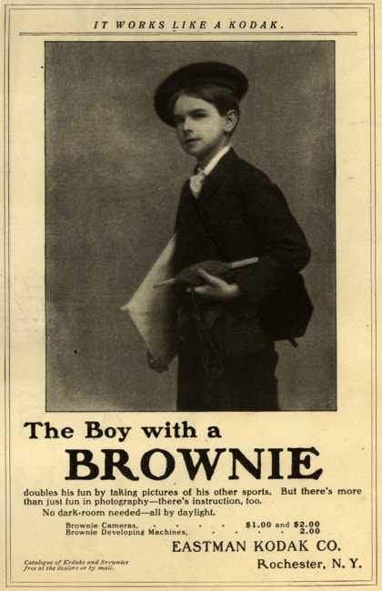 Kodak's Brownie cameras – The Boy with a Brownie (1903)