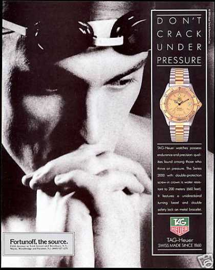 Tag Heuer Watch Swim Swimmer Photo TagHeuer (1990)
