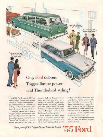 Only Ford Delivers Trigger Torque Power (1955)