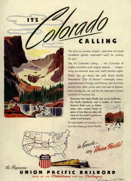 Union Pacific Railroad's Vacation/Business Travel – It's Colorado Calling (1946)