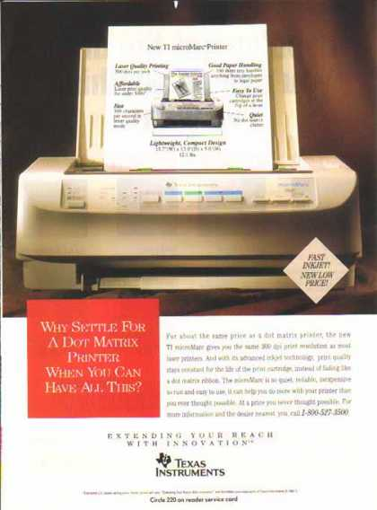 Texas Instruments – TI Mircomarc Printer (1993)