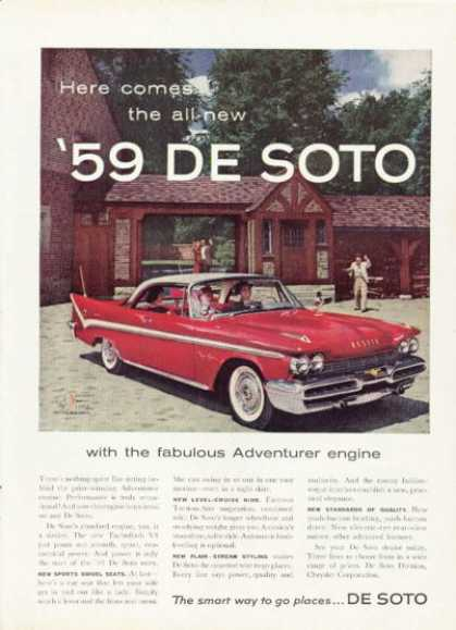 Of New 1959 De Soto White On Red Hardtop (1958)