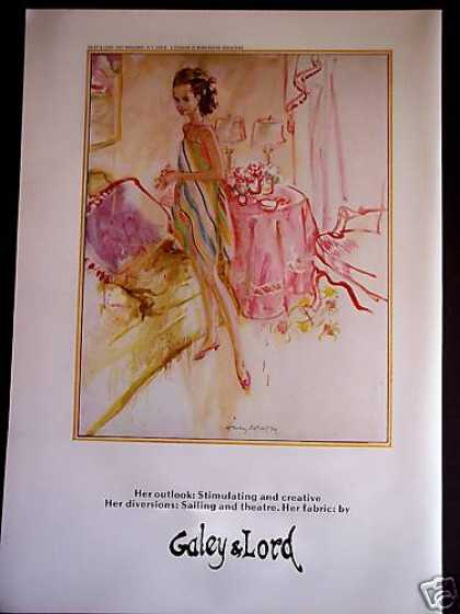 Fashion Art By Koehler Galey & Lord (1967)