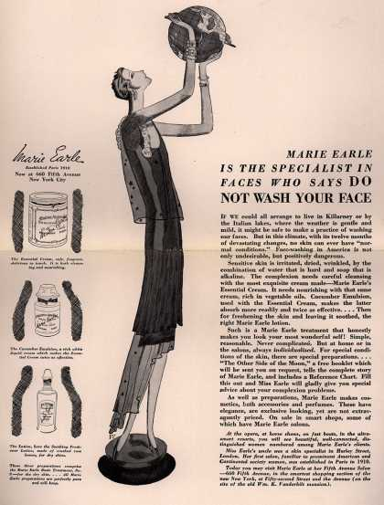 Marie Earle's Various – Marie Earle Is The Specialist In Faces Who Says Do Not Wash Your Face (1928)