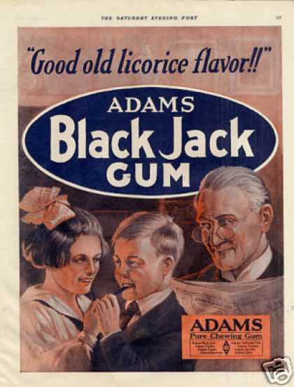 Adams Black Jack Gum Color (1920)