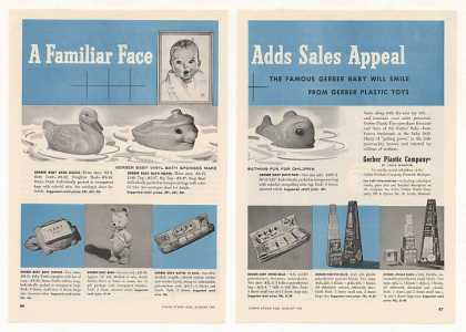 Gerber Plastic Baby Toys 2-Page (1955)