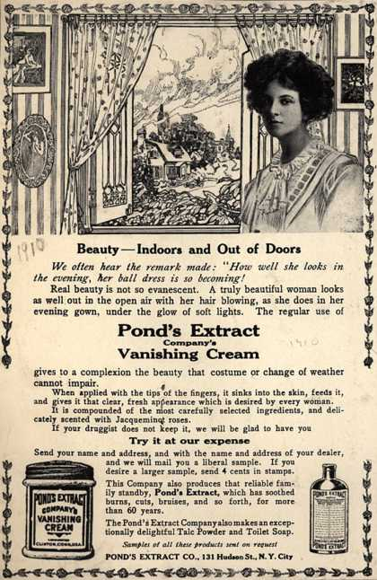 Pond's Extract Co.'s Pond's Vanishing Cream – Beauty-Indoors and Out of Doors (1910)