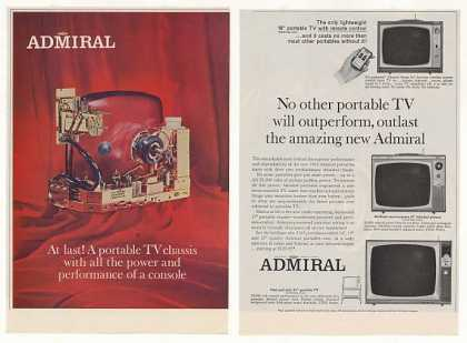 Admiral Portable TV Television Chassis (1963)