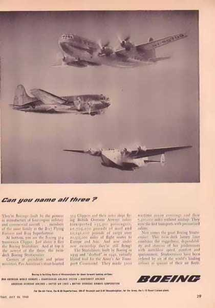 Boeing Aircraft – Name the Planes (1948)