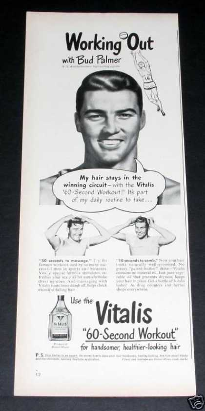 Vitalis Hair Tonic, Bud Palmer (1949)