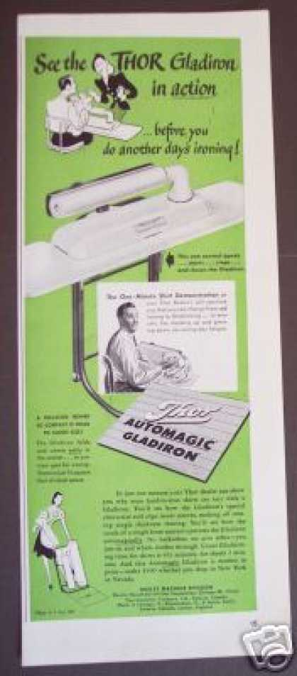 Thor Auto Gladiron Folding Iron Ironing Board (1947)