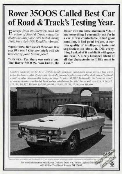 Rover 3500s Road & Track Best Car Photo (1970)