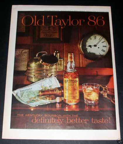 Old Taylor 86 Bourbon Whiskey, Exc (1961)