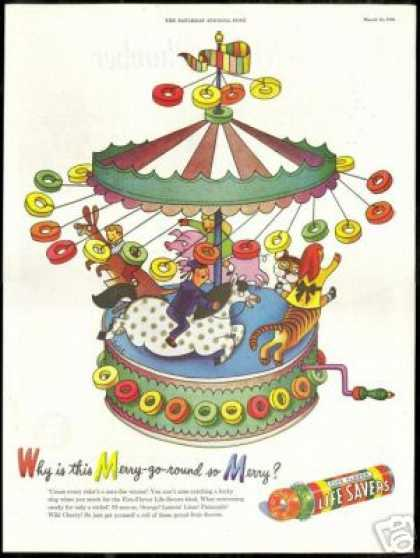 Merry Go Round Carousel Life Savers Candy (1946)