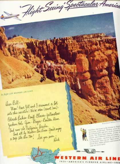 Western Air Lines Bryce Canyon National Park (1946)