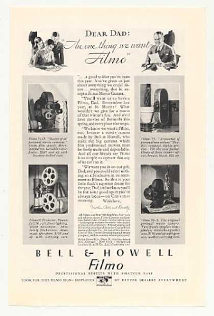 Bell & Howell Filmo 70-D 75 70-A Movie Camera (1930)
