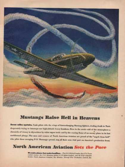Mustangs In Heaven North American Aviation (1944)
