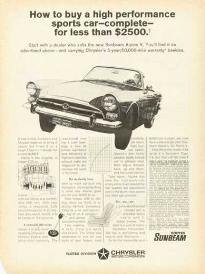 Chrysler Rootes Sunbeam Alpine V (1966)