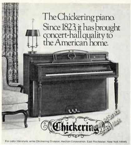 The Chickering Piano Since 1823 Photo (1974)