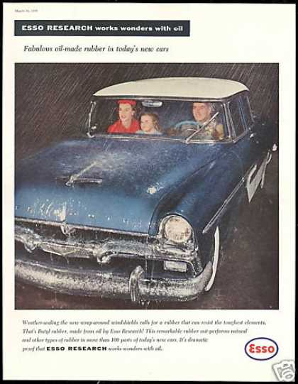 Plymouth Car Photo Esso Windshield Rubber (1956)