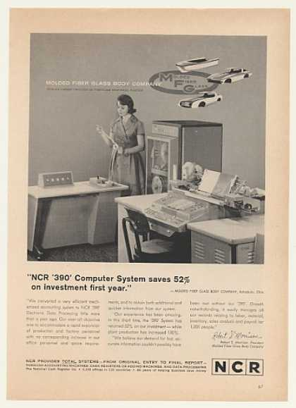 MFG Molded Fiber Glass Body Co NCR 390 Computer (1964)