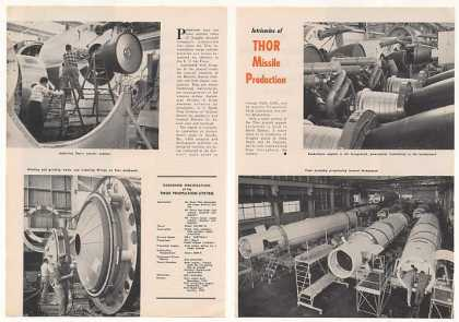 Douglas Thor Missile Production 2-Pg Photo Article (1959)
