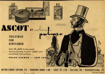 Solon Palmer's Ascot Toiletries – Ascot By Solon Palmer (1945)