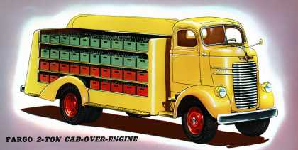 Fargo cab-over with bottle carrier body (1941)
