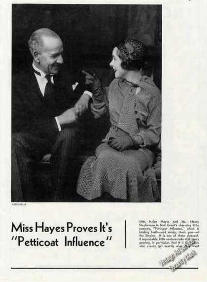 Helen Hayes & Henry Stephenson Print Feature (1931)