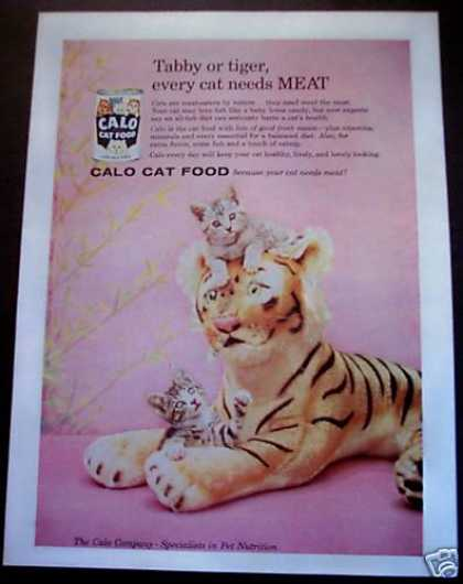 Calo Cat Food 'every Cat Needs Meat' (1958)