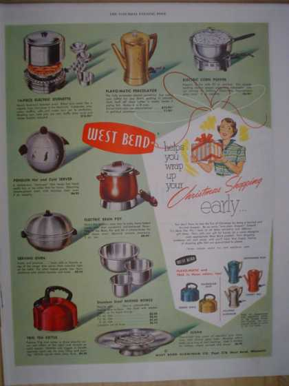 West Ben Appliances Christmas shopping early (1952)