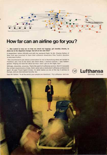 Lufthansa German Airlines Stewardess (1966)