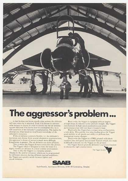 Saab Viggen Aircraft Aggressor's Problem Photo (1974)
